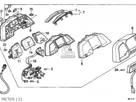 Honda Vfr750f 1988 j England Mkh Meter 3