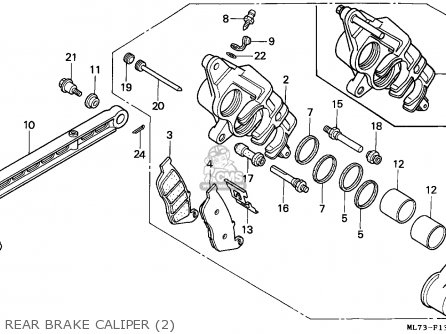 Honda Vfr750f 1988 j England Mkh Rear Brake Caliper 2