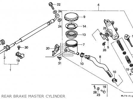 Honda Vfr750f 1988 j England Mkh Rear Brake Master Cylinder