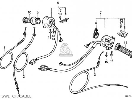 Honda Vfr750f 1988 j England Mkh Switch cable