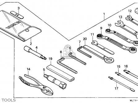 Honda Vfr750f 1988 j England Mkh Tools
