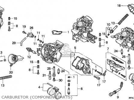 honda vfr750f 1995 (s) italy parts lists and schematics