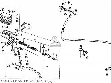 Honda Vfr750f Interceptor 1988 j England   Mkh Clutch Master Cylinder 3
