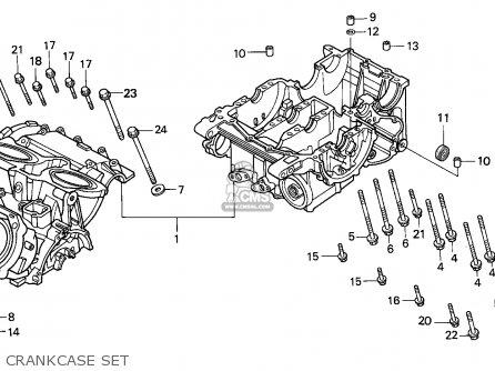 Honda Vfr750f Interceptor 1988 j England   Mkh Crankcase Set