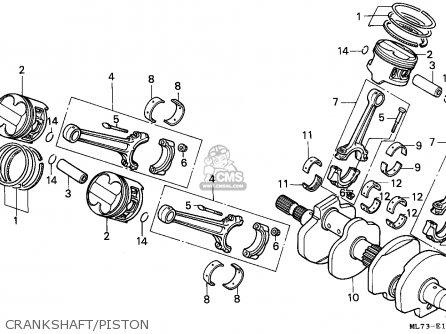 Honda Vfr750f Interceptor 1988 j England   Mkh Crankshaft piston