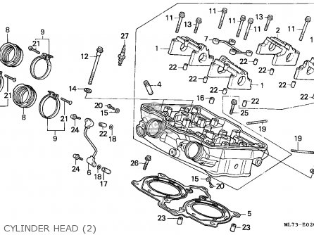 Honda Vfr750f Interceptor 1988 j England   Mkh Cylinder Head 2