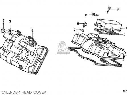 Honda Vfr750f Interceptor 1988 j England   Mkh Cylinder Head Cover