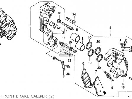 Honda Vfr750f Interceptor 1988 j England   Mkh Front Brake Caliper 2