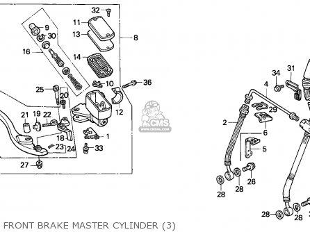Honda Vfr750f Interceptor 1988 j England   Mkh Front Brake Master Cylinder 3