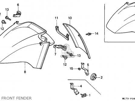 Honda Vfr750f Interceptor 1988 j England   Mkh Front Fender