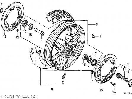 Honda Vfr750f Interceptor 1988 j England   Mkh Front Wheel 2
