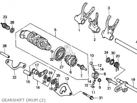 Honda Vfr750f Interceptor 1988 j England   Mkh Gearshift Drum 2