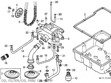 Honda Vfr750f Interceptor 1988 j England   Mkh Oil Filter oil Pan  Oil Pump
