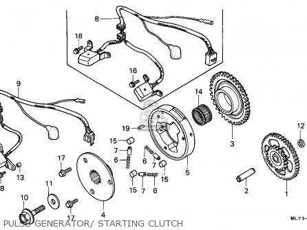 Honda Vfr750f Interceptor 1988 j England   Mkh Pulse Generator  Starting Clutch