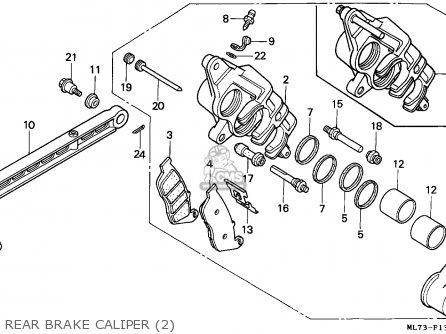 Honda Vfr750f Interceptor 1988 j England   Mkh Rear Brake Caliper 2