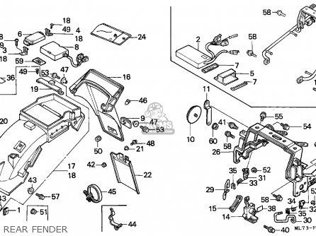 Honda Vfr750f Interceptor 1988 j England   Mkh Rear Fender
