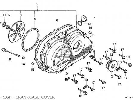 Honda Vfr750f Interceptor 1988 j England   Mkh Right Crankcase Cover