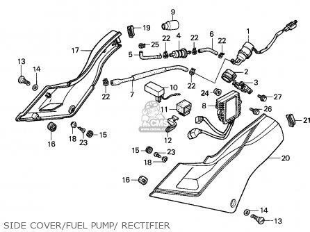 Honda Vfr750f Interceptor 1988 j England   Mkh Side Cover fuel Pump  Rectifier