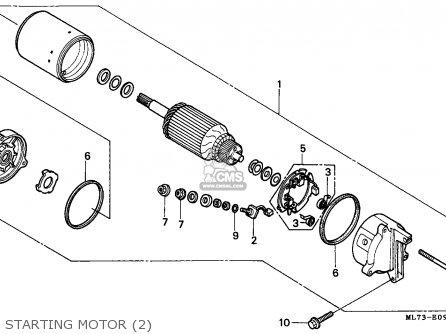 Honda Vfr750f Interceptor 1988 j England   Mkh Starting Motor 2