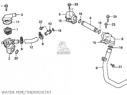 Honda Vfr750f Interceptor 1988 j England   Mkh Water Pipe thermostat