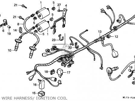 Honda Vfr750f Interceptor 1988 j England   Mkh Wire Harness  Ignition Coil