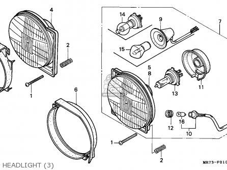 Honda Vfr750r Rc30 1990 L England Parts Lists And Schematics