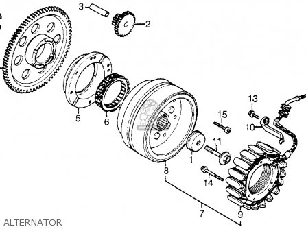 Honda Vt1100c Shadow 1100 1986 g Usa California Alternator