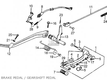 Honda Vt1100c Shadow 1100 1986 g Usa California Brake Pedal   Gearshift Pedal