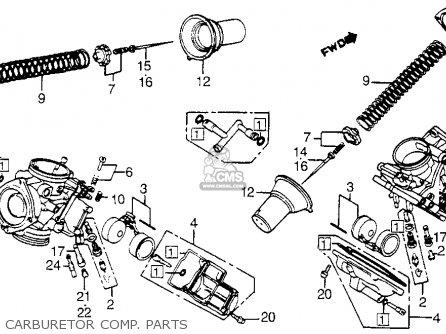 Honda Vt1100c Shadow 1100 1986 g Usa California Carburetor Comp  Parts