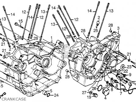 Honda Vt1100c Shadow 1100 1986 g Usa California Crankcase