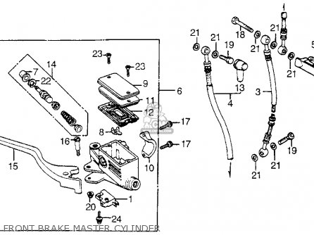 Honda Vt1100c Shadow 1100 1986 g Usa California Front Brake Master Cylinder