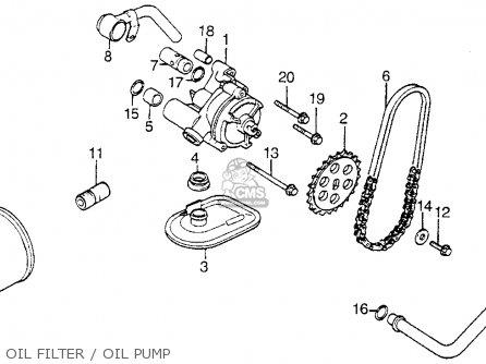 Honda Vt1100c Shadow 1100 1986 g Usa California Oil Filter   Oil Pump
