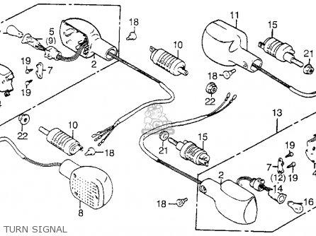 Honda Vt1100c Shadow 1100 1986 g Usa California Turn Signal