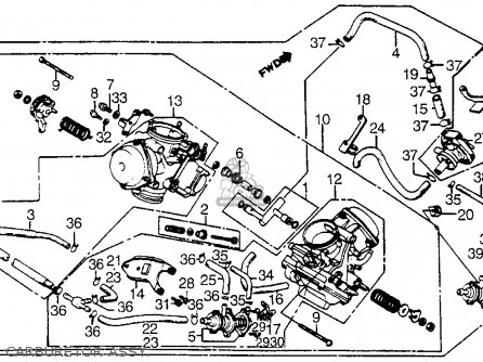 Honda Vt1100c Shadow 1100 1986 g Usa Carburetor Assy