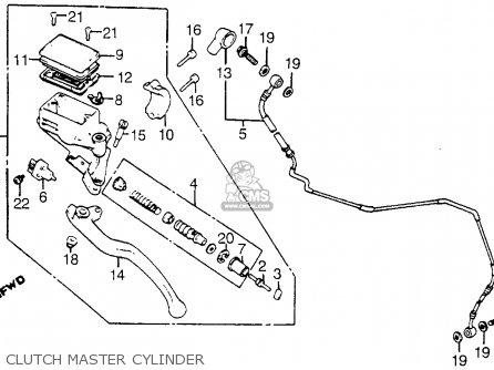 Honda Vt1100c Shadow 1100 1986 g Usa Clutch Master Cylinder