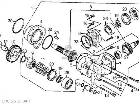 Honda Vt1100c Shadow 1100 1986 g Usa Cross Shaft