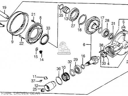 Honda Vt1100c Shadow 1100 1986 g Usa Final Driven Gear