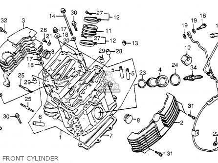 Honda Vt1100c Shadow 1100 1986 g Usa Front Cylinder