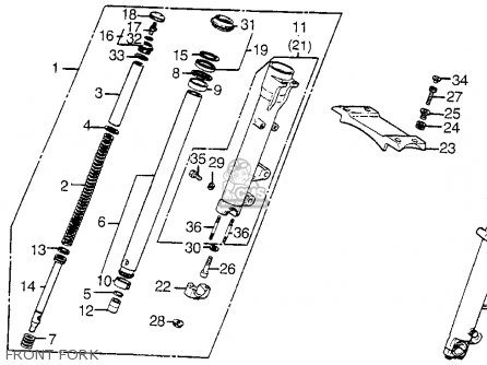 Honda Vt1100c Shadow 1100 1986 g Usa Front Fork