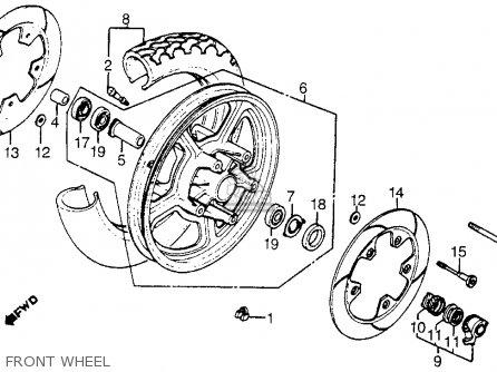 Honda Vt1100c Shadow 1100 1986 g Usa Front Wheel