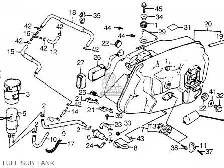 Honda Vt1100c Shadow 1100 1986 g Usa Fuel Sub Tank