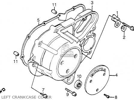 Honda Vt1100c Shadow 1100 1986 g Usa Left Crankcase Cover