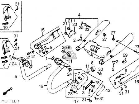 Honda Vt1100c Shadow 1100 1986 g Usa Muffler