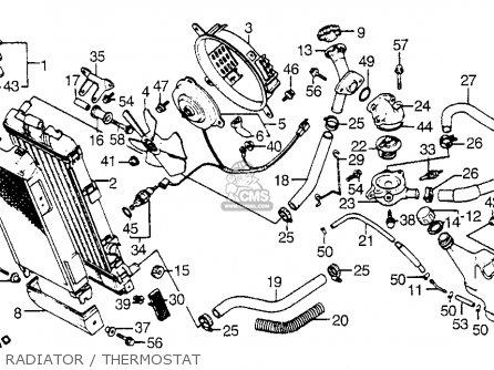 Honda Vt1100c Shadow 1100 1986 g Usa Radiator   Thermostat