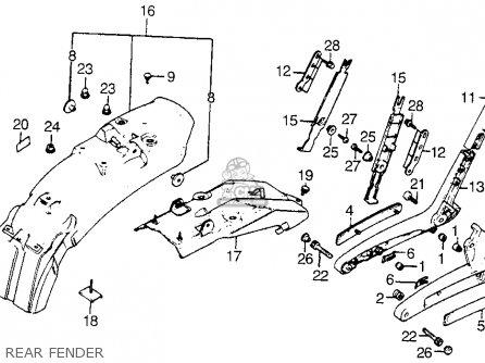 Honda Vt1100c Shadow 1100 1986 g Usa Rear Fender