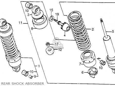 Honda Vt1100c Shadow 1100 1986 g Usa Rear Shock Absorber