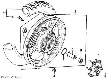 Honda Vt1100c Shadow 1100 1986 g Usa Rear Wheel