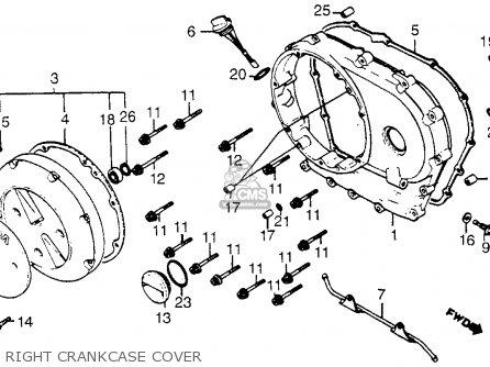 Honda Vt1100c Shadow 1100 1986 g Usa Right Crankcase Cover
