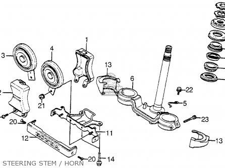 Honda Vt1100c Shadow 1100 1986 g Usa Steering Stem   Horn