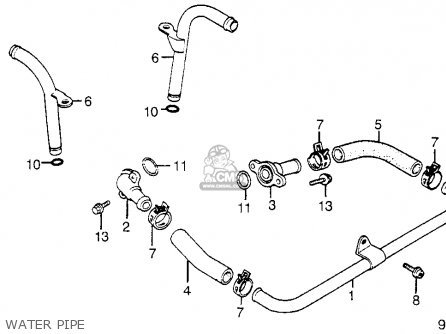 Honda Vt1100c Shadow 1100 1986 g Usa Water Pipe